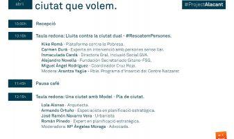 cartel 7 d'abril Compromís Alacant #ProjectAlacant